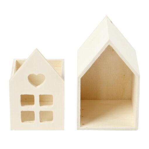 54441 Huisje met lade - Hout