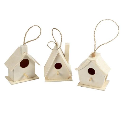 575770.2 Mini Vogelhuis hangers 3 stuks - Hout