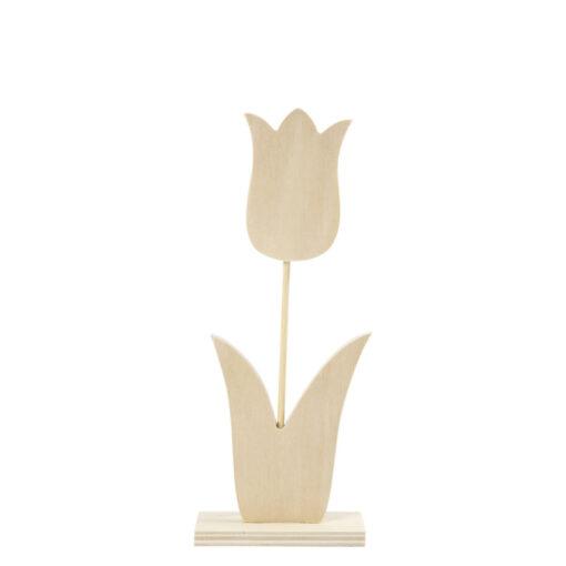 57934 Tulp op standaard 23,5cm - Hout