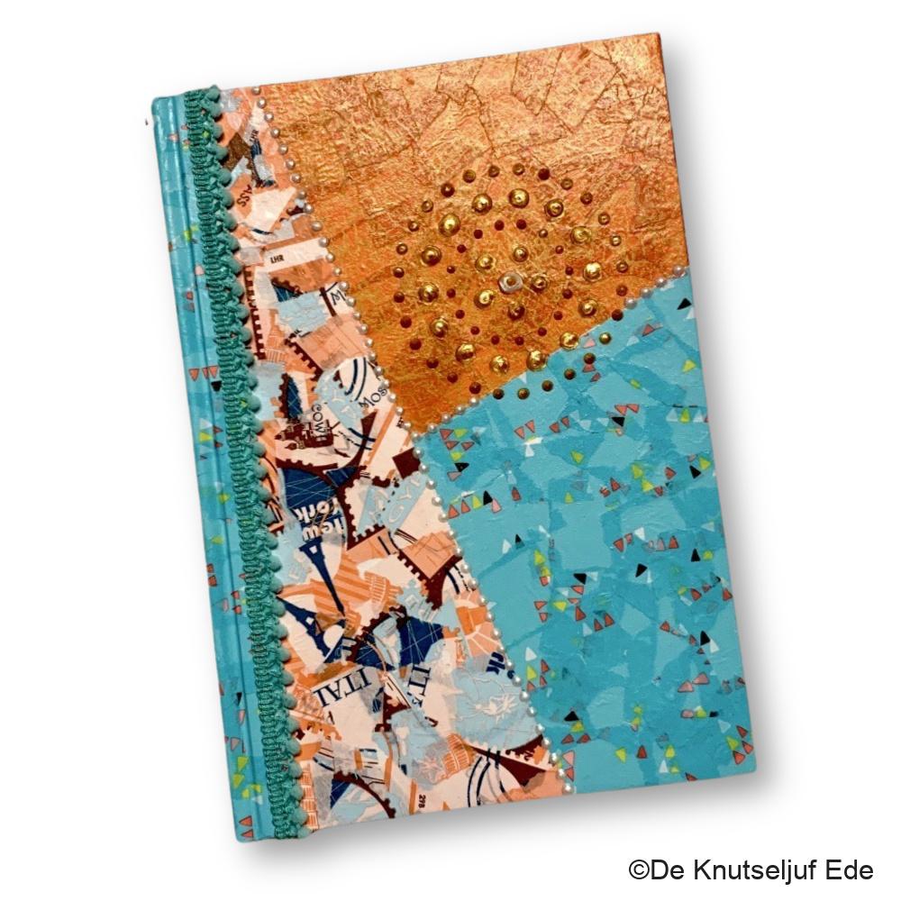 26353 en 264560 Notitieboek Schrift met Décopatch en Parel stippen - De Knutseljuf