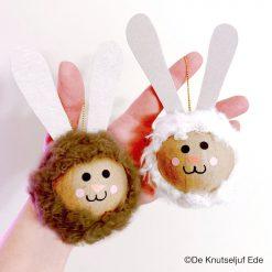 vb 510313 Paashaasjes met Wooly Curl Fabric - De Knutseljuf