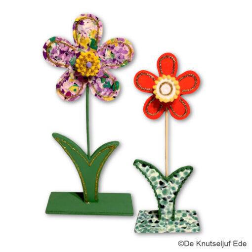 vb 57931 en 57932 Vrolijke Houten Bloemen - De Knutseljuf