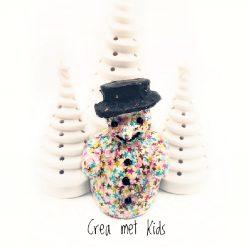 vb AP104 Sneeuwpop met Décopatch - Crea met Kids