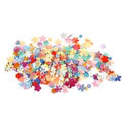 52281.25 Bloemen Paillettenmix - Pastel Kleuren