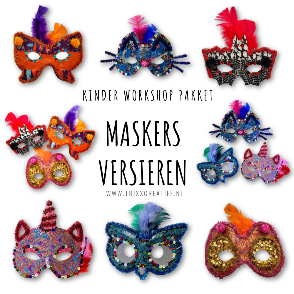 CK2101 Kinder Workshop Pakket Maskers Versieren