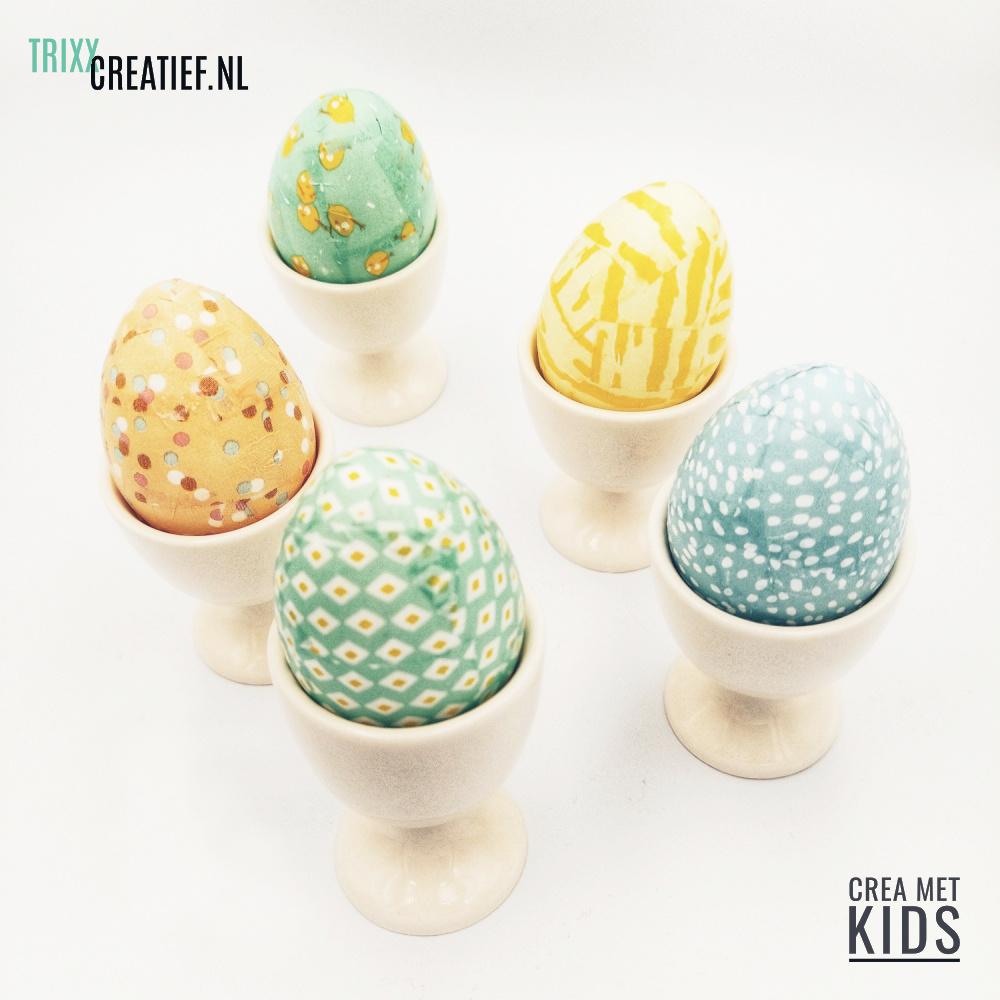 Crea Met Kids 510320 Plastic Eieren met Décopatch