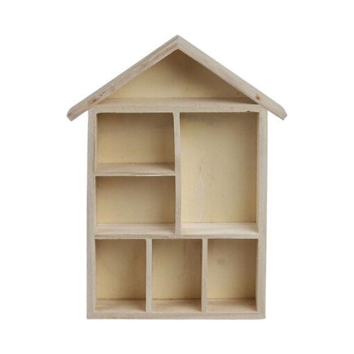 575160 Letterbak Huisje - Hout