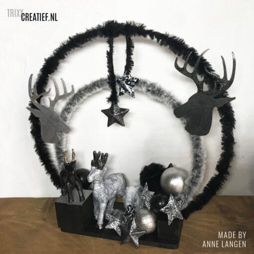 Anne Langen - Kerstdecoratie in Zwart met Zilver