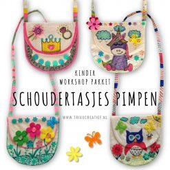 CK2102 Kinder Workshop Pakket Schoudertasjes Pimpen