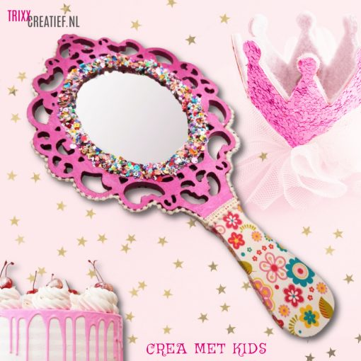 Crea Met Kids HG631 Houten Prinsessen Spiegel