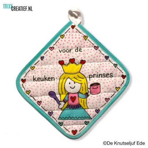 De Knutseljuf - 444601 Pannenlap met Textielstift - Keukenprinses
