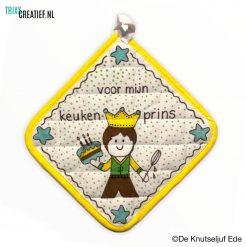 De Knutseljuf - 444601 Pannenlap met Textielstift - Keukenprins