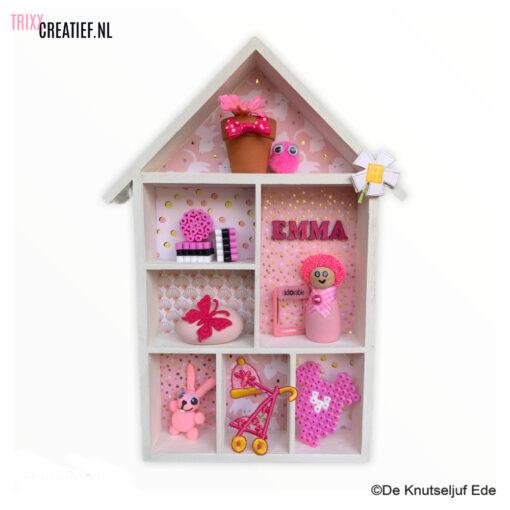 De Knutseljuf - 575160 Letterbakhuisje Geboorte Kraamcadeau Roze