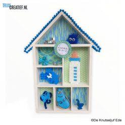De Knutseljuf - 575160 Letterbakhuisje Geboorte Kraamcadeau Blauw