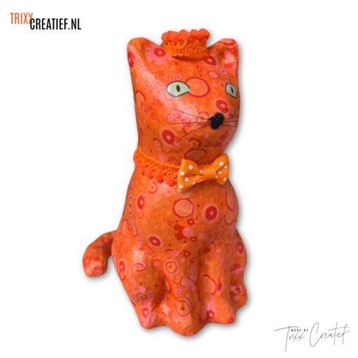 Trixx Creatief - SA214 Décopatch Koningsdag Poes