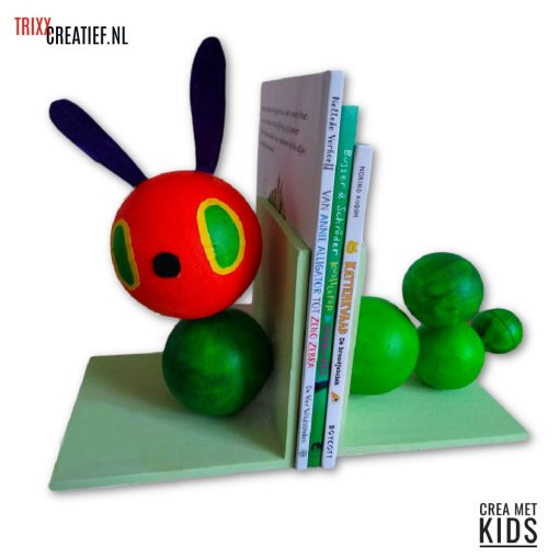 Crea met Kids - 57649 Rupsje Nooitgedacht Boekensteunen met Styropor Ballen