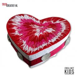 Crea Met Kids - BT036 Décopatch Hart doosje met Koud Emaille