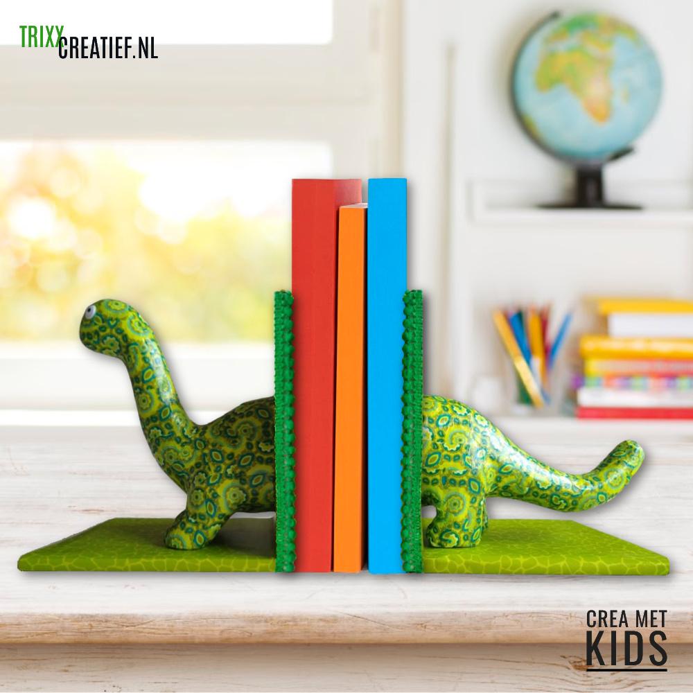 Crea met Kids - SA104 en 57649 Décopatch Dino met Boekensteunen