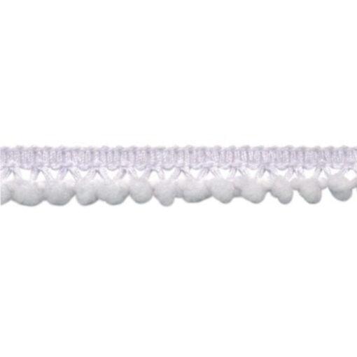 902344248 Mini Bolletjesband Pompom - Wit