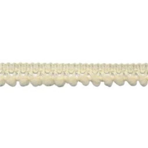 902344249 Mini Bolletjesband Pompom - Creme
