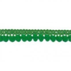 902344253 Mini Bolletjesband Pompom - Groen
