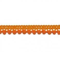 902344255 Mini Bolletjesband Pompom - Oranje
