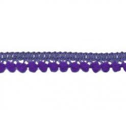 902344261 Mini Bolletjesband Pompom - Paars
