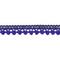 902344263 Mini Bolletjesband Pompom - Kobalt Blauw
