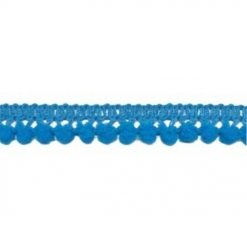 902344265 Mini Bolletjesband Pompom - Turquoise Blauw