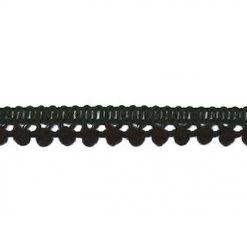 902344268 Mini Bolletjesband Pompom - Zwart