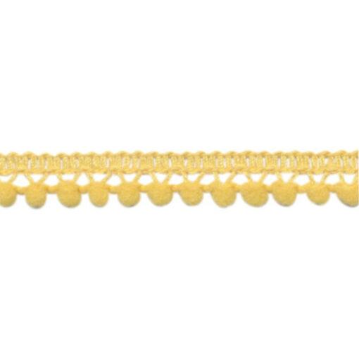 902345678 Mini Bolletjesband Pompom - Zacht Geel