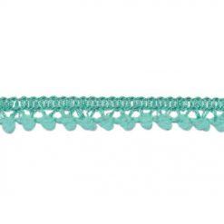 902345680 Mini Bolletjesband Pompom - Zeegroen