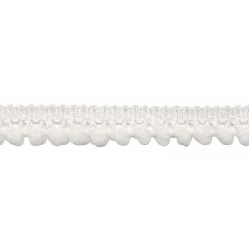 902347630 Mini Bolletjesband Pompom - Gebroken Wit