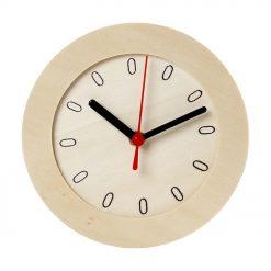544260 Klok met uurwerk - Hout
