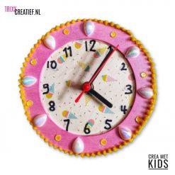 Crea Met Kids - 544260 Houten Klok met Décopatch IJsjes