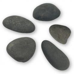 180107 Platte Grijze Stenen - 5 stuks - Happy Stones