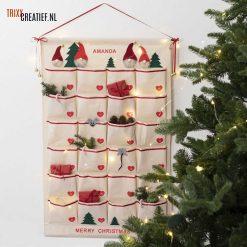Trixx Creatief - 49735 Hangende Canvas Organizer Adventkalender