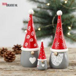 Trixx Creatief - 58051 en 58052 Kerst Kabouters met Verf